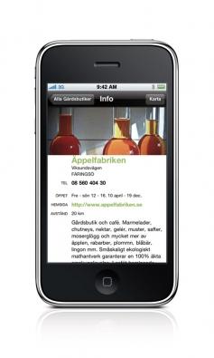 Infosida exempel Äppelfabriken