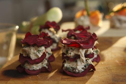 Böckling Recept -Böckling med rödbetschips recept
