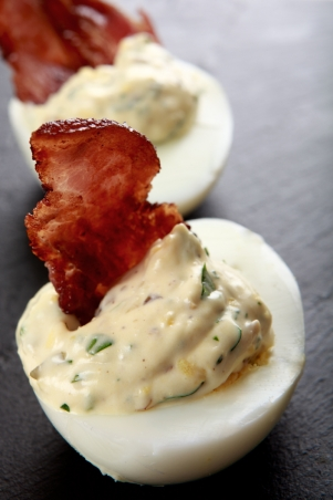 Påskägg med bacon recept