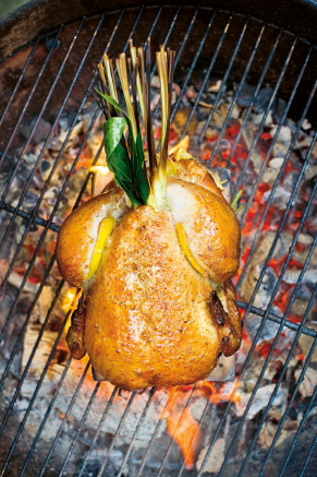 Kyckling BBQ-rökt med dragon och olivolja
