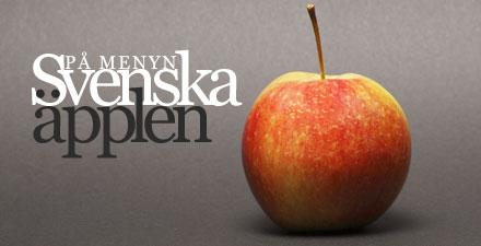 Svenska äpplen på menyn